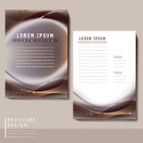 Futuristic style brochure template design Royalty Free Stock Photos