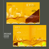 Futuristic style half-fold template design Royalty Free Stock Images