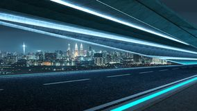 Futuristic style highway tunnel road royalty free stock photography