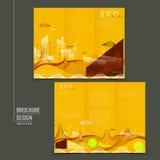 Futuristic style tri-fold template design Stock Images