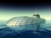 Futuristic Submarine Royalty Free Stock Photo