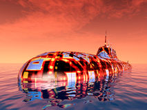 Futuristic Submarine Royalty Free Stock Photos