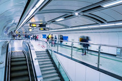 Futuristic subway passage Royalty Free Stock Image