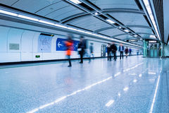 Futuristic subway passage Stock Photography