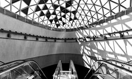 Futuristic subway station. In Budapest, Hungary Royalty Free Stock Images