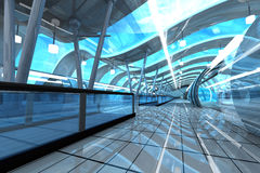 Futuristic Subway Station Stock Photos