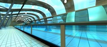Futuristic Subway Station Stock Photography