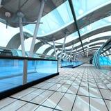 Futuristic Subway Station Royalty Free Stock Photography