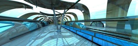 Futuristic Subway Station Royalty Free Stock Image