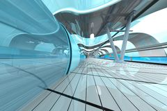 Futuristic Subway Station Royalty Free Stock Photo