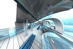 Futuristic Subway Station Royalty Free Stock Photography