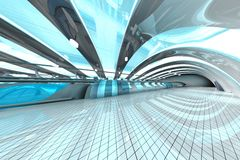 Futuristic Subway Station Royalty Free Stock Images