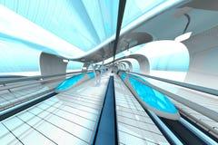 Futuristic Subway Station Stock Photo