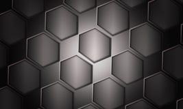 Futuristic svart bakgrund Royaltyfria Bilder