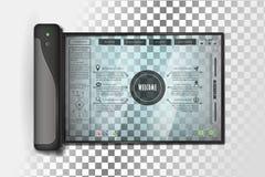 Futuristic tablet design royalty free illustration