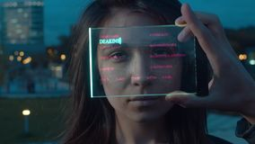 Futuristic Technological Face Scanning