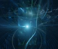 Futuristic technology abstract background Stock Photo