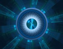Futuristic technology abstract background Stock Photography