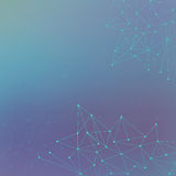 Futuristic technology background molecule and communication. Connected lines with dots. Vector illustration Royalty Free Stock Images