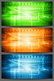 Futuristic technology bright banners Royalty Free Stock Photo