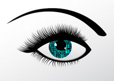 Futuristic Technology Computerized eye Stock Photography