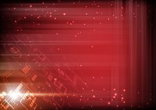 Futuristic technology illustration, red digits with light grid a. Nd small bubble Royalty Free Illustration