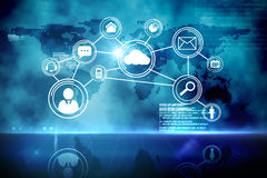 Futuristic technology interface Royalty Free Stock Photo