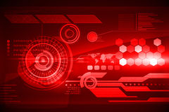 Futuristic technology interface. In red