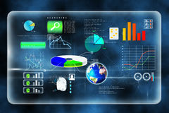 Futuristic technology interface. In blue Stock Image