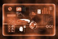 Futuristic technology interface. In orange and black Stock Photo