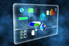 Futuristic technology interface. In blue Royalty Free Stock Images