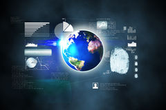 Futuristic technology interface. In blue and black Stock Images