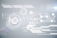 Futuristic technology interface Stock Photo