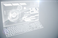Futuristic technology interface Stock Images