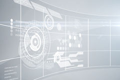 Futuristic technology interface Royalty Free Stock Image