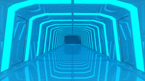 Futuristic technology interior architecture Royalty Free Stock Photography