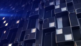 Futuristic technology panel with cubic clusters 3D render illustration stock illustration