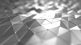 Futuristic technology related silver polygonal background. 3D rendering. Silver polygonal background 3D rendering royalty free illustration