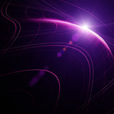 Futuristic technology wave background design Stock Photography