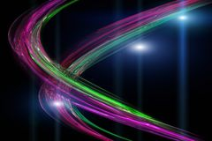 Futuristic technology wave background design Stock Images