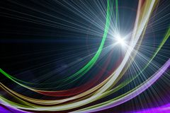 Futuristic technology wave background design Royalty Free Stock Photo