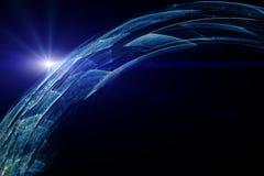 Futuristic technology wave background design stock image