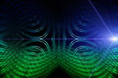 Futuristic technology wave background design Stock Image