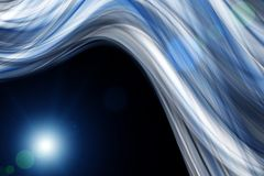 Futuristic technology wave background design. With lights Stock Photography