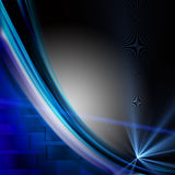 Futuristic technology wave background design Stock Photo