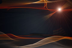 Futuristic technology wave background design Stock Images