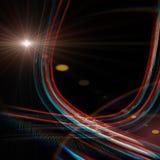 Futuristic technology wave design with lights. Futuristic technology wave background design with lights stock illustration