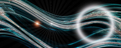 Futuristic technology wave panorama design stock images