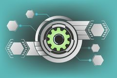 Technology gears background Royalty Free Stock Image
