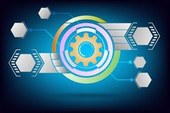Technology gears background Stock Photos